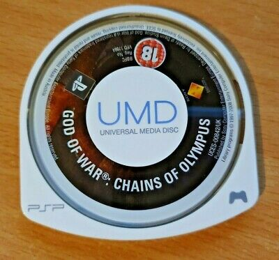 Sony Playstation PSP Game DISC ONLY - God of War : Chains of Olympus 18+