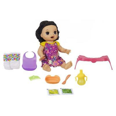 Baby Alive Happy Hungry Baby Brown Straight Hair Doll, 50+ Sounds, Phrases, Eats