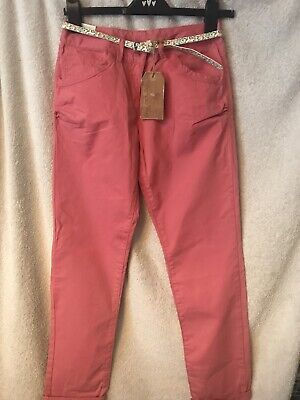 GIRLS KIDS PRETTY NEXT ADJUSTABLE WAIST Pink TROUSERS AGE 12 YEARS YRS NEW