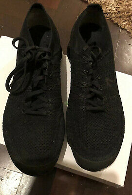 MENS NIKE AIR VAPORMAX FLYKNIT 3 TRIPLE BLACK TRAINERS Size 11