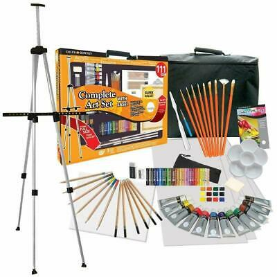 Daler Rowney 111-Piece Complete Art Studio with Easel and Canvas  NEW