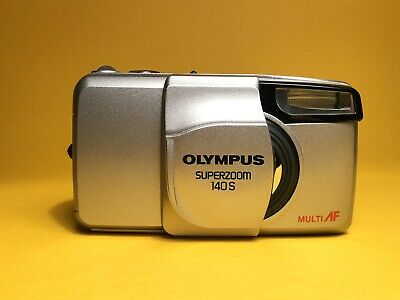 Olympus Superzoom 140S Retro 35mm Point And Shoot Film Camera. MINT. Mju Style.