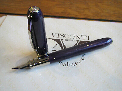 Visconti Rembrandt Purple Fountain pen steel Extra-Fine calligraphy nib MIB