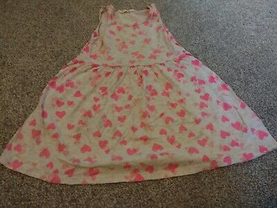 H&M Girls Grey And Pink Dress Aged 4-6 Years
