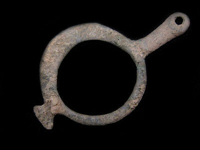 EXTREMELY RARE BRONZE AGE RING AMULET BRONZE PENDANT +++As Found+++