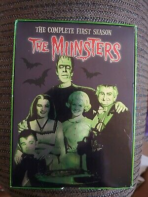 The Munsters - The Complete First Season (DVD, 2004, 3-Disc Set) played1x&stored