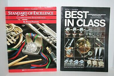 Lot of 2 Standard of Excellence & Best in Class - TROMBONE Book 1