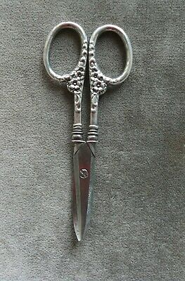 Antique Sterling Handle Manicure Cuticle SCISSORS, pretty, strong blades