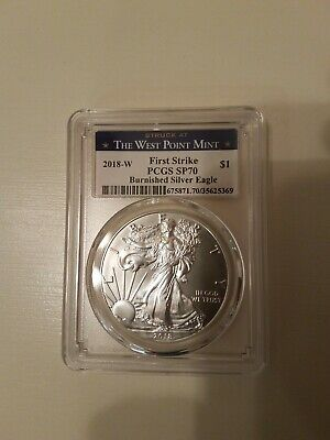 2018-W American Silver Eagle Burnished - PCGS SP70 - First Strike