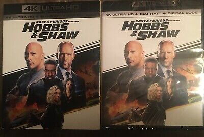 Fast and Furious Presents: Hobbs & Shaw (4K/Blu-ray/Digital)(New/Factory Sealed)