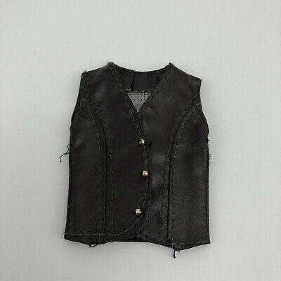 Vintage Ken Faux Leather Brown Vest PGD Hong Kong 1960s 1970s