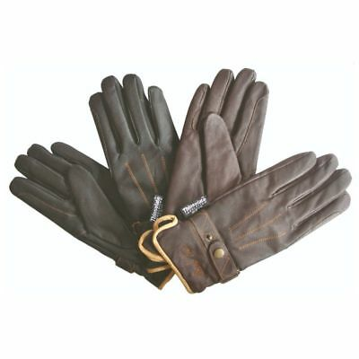 Mark Todd Adults Winter Leather Riding Gloves Thinsulate BROWN Small