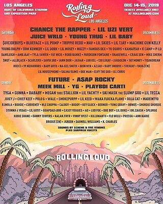 Selling (Two)2Day GA+ Rolling Loud Tickets (Los Angeles) (Tier 1) December 14-15