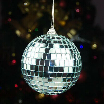 Mirror Glass Ball Disco DJ Stage Lighting Effect Party Home Decor Xmas 15cm