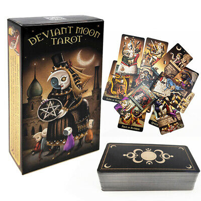 78Pcs Deviant Moon Tarot Deck Borderless Edition Cards by Patrick Valenza AU