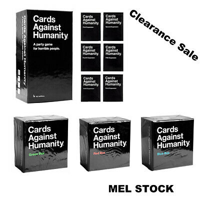 Cards Against Humanity AU Version V2.0  /  expansion 1-6  / red green blue box