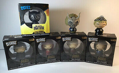 Lot Of 7 - Funko Dorbz Game Of Thrones & Black Panther Vynil Collection