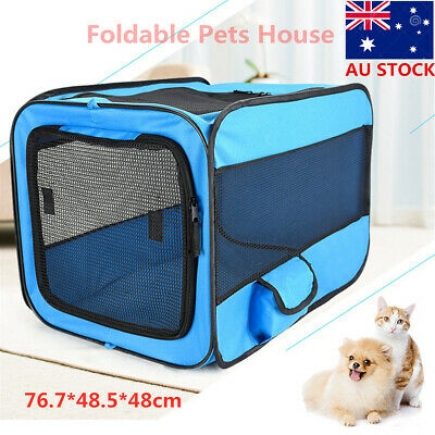 Dog Cat Pet Tent Portable Cage Folding Kennel Puppy Playpen House Bed Fence Bag