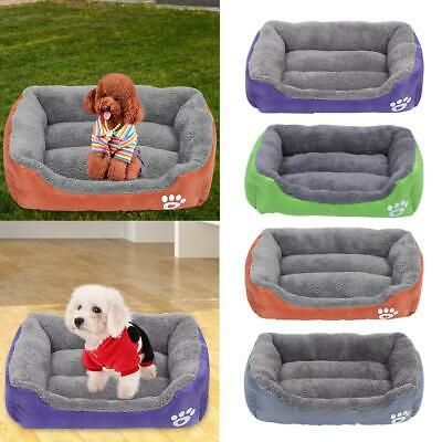Large soft warm mat pet kennel dog mat cat bed washable candy color square nest