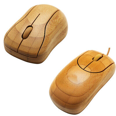 Bamboo Wired / Wireless Optical Mouse Environmental Protection Anti-radiation AU