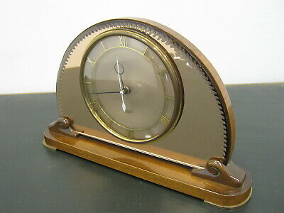 Retro Smith Sectric Mantle Clock, Vintage electric clock working, pink Northants
