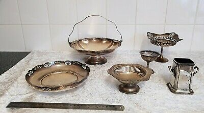 6 Silver plated items good condition but need a clean.