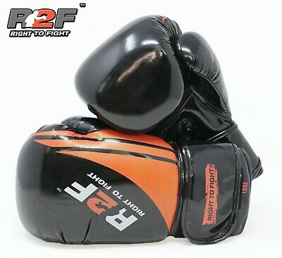 Boxing Gloves Sparring Professional Glove Punch Bag Training MMA Mitts Black