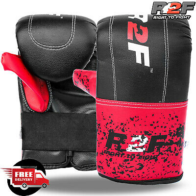 Boxing Punching Bag Mitts Muay Thai MMA Training Punch Bag Rex Leather Gloves