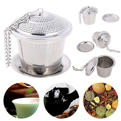Stainless Steel Mesh Tea Infuser Metal Cup Strainer Loose Leaf Filter withouWCH