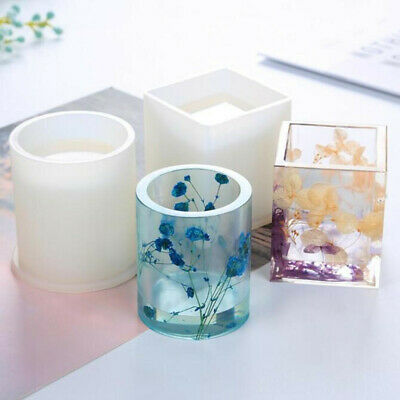 Silicone Mould Dried Flower Resin Decorative Craft DIY Storage Pen holder Mold