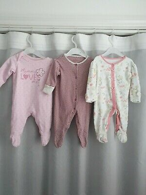 Girls 0-3 Months Sleepsuits Bundle *Combined Postage*