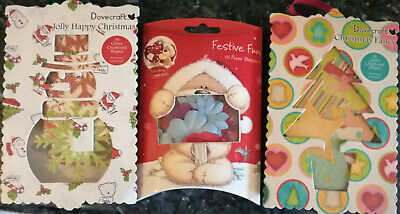 Glittered Chipboard Shapes & Festive Paper Blossoms - 3 Packs - Dovecraft