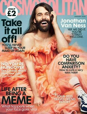 UK Cosmopolitan Magazine January 2020: JONATHAN VAN NESS COVER FEATURE Queer Eye