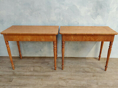 Pair 19th Century Birch Console Tables