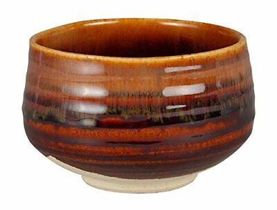 The carved tea bowl candy glaze and sink Hitoshikama 24164 fromJAPAN