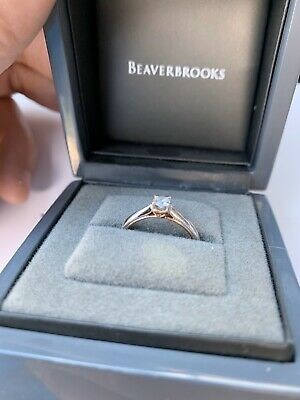 beaverbrooks White And Rose Gold Diamond engagement ring Size K