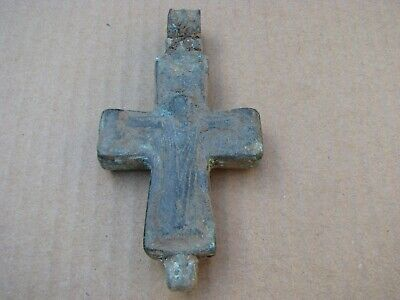 Byzantine Bronze  Cross Encolpion-Jesus