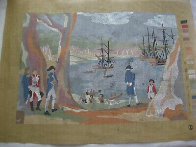 Womens Weekly Sydney Cove First Fleet Landing Needlepoint Tapestry Canvas