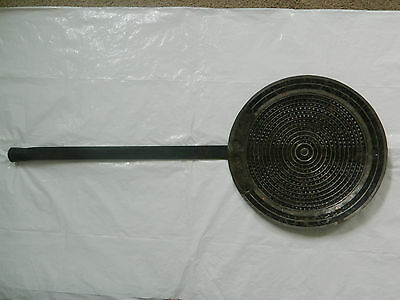 "Cast Iron Big & Large Srainer Spatula Heavy Weight 35"" Long 14"" Diameter"
