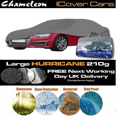 HEAVY DUTY Large Universal Full Car Cover Water Rain Snow proof, UV Protection