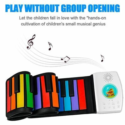 Keyboard Flexible Electronic Piano Roll Up For Kids Beginner Musical Instrument