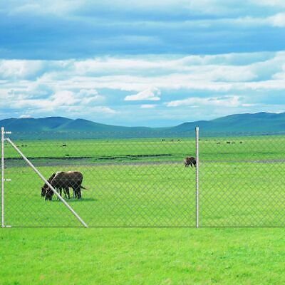 Chain-Link Fence Set with Posts 1.95x15 m Galavanised H1O6
