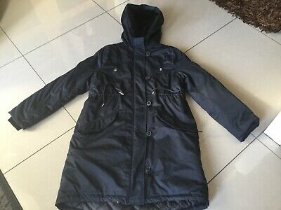 H&M MAMA MATERNITY SHERPA LINED NAVYI QUILTED PARKA COAT SIZE Sml 8,10 £69.99