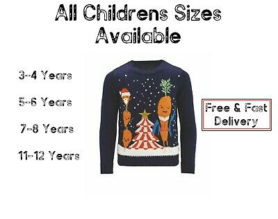 ALDI KEVIN CARROT KIDS CHILDRENS CHRISTMAS JUMPER AGE 3-4, 5-6, 7-8 11-12 Years