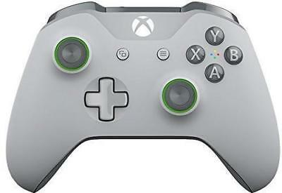 Genuine Grey/Green Limited Edition Microsoft Xbox One S Wireless Controller.