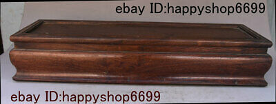 Antique Chinese Huang Huali Wood Carved Storage Jewelry Box Treasure Case Statue