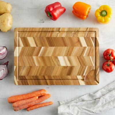 Thick Wooden Chopping Board Wood Serving Tray Kitchen Cutting Slicing Tool NEW