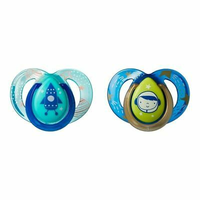Tommee Tippee 2x 6-18M Chupete Nocturno Azul Verde