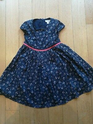 Little White Company girls 5-6 years party floral cotton lined dress