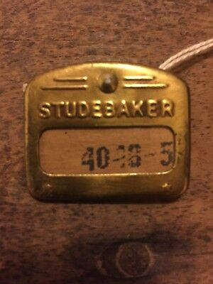 Brass Studebaker Employee Badge, Pin with Original ID Number